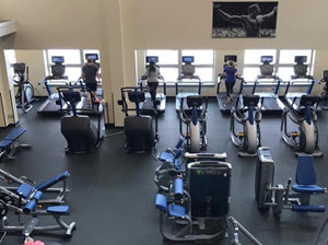 Gym workout area at Gravity Fitness and Tennis in Hailey Idaho